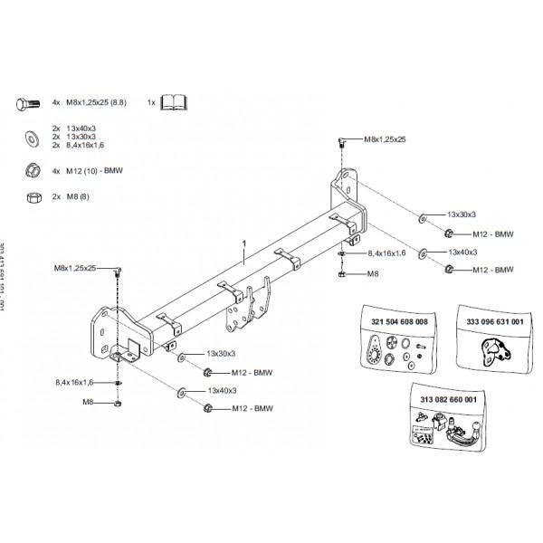 attelage bmw serie 5 break g31 rdsov 25969. Black Bedroom Furniture Sets. Home Design Ideas