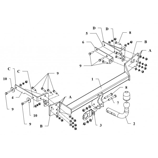 attelage renault clio2 col de cygne faisceau universel 7 broches 11192. Black Bedroom Furniture Sets. Home Design Ideas