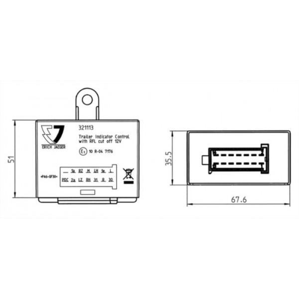 boitier  u00e9lectronique erich jaeger 321113