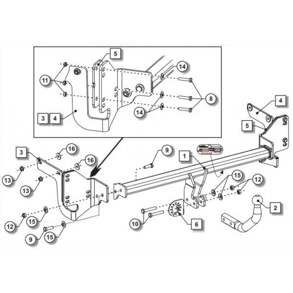 attelage citroen c4 grand spacetourer col de cygne 27677. Black Bedroom Furniture Sets. Home Design Ideas