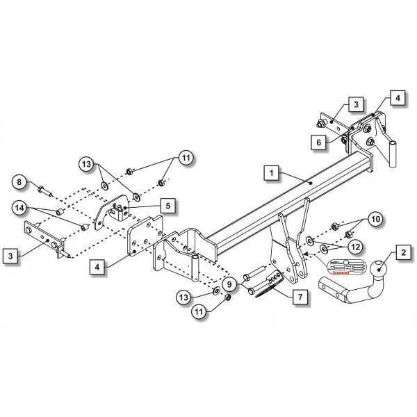 attelage bmw serie 3 berline col de cygne 20136. Black Bedroom Furniture Sets. Home Design Ideas