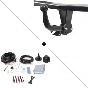 Attelage Fiat Doblo Workup (11/11-) Col de cygne + faisceau universel 7 broches + boitier électronique