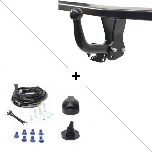 attelage peugeot 205 col de cygne faisceau universel 7 broches 22236. Black Bedroom Furniture Sets. Home Design Ideas
