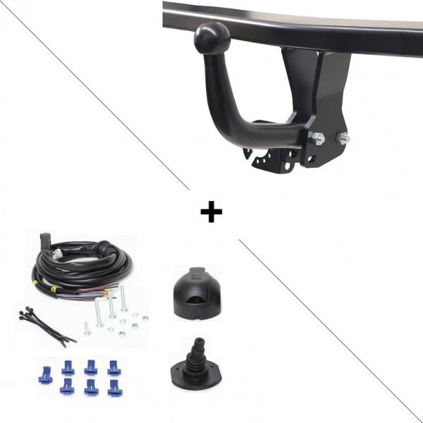 attelage fiat punto col de cygne faisceau universel 7 broches 22539. Black Bedroom Furniture Sets. Home Design Ideas