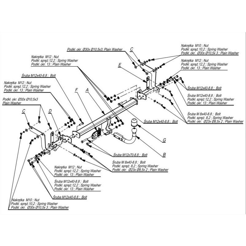Attelage D/émontable avec 7broches Faisceau pour 308 Break 2007-2013 UT290COR44ZCM//WU000FR2